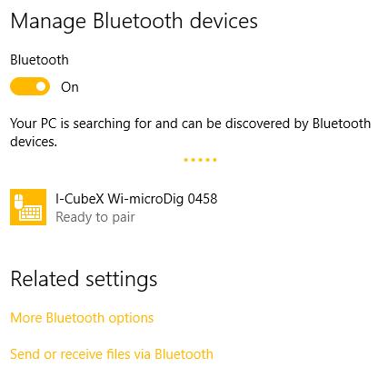 Wi-microDig-601 QuickStart Windows-10 - I-CubeX Wiki